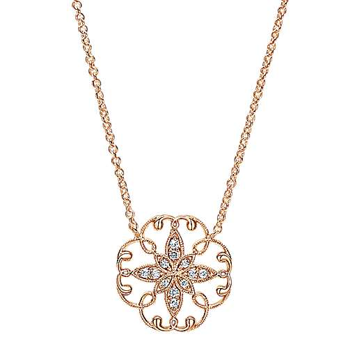 Gabriel - 14k Pink Gold Flirtation Fashion Necklace