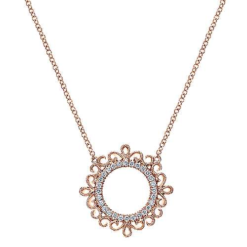 Gabriel - 14k Pink Gold Flirtation Fashion Necklace