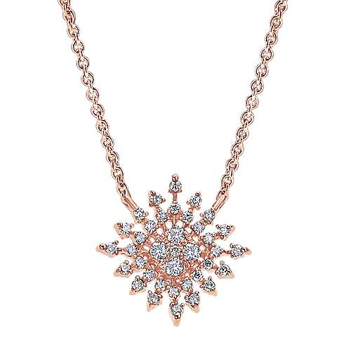 Gabriel - 14k Pink Gold Stellare Fashion Necklace