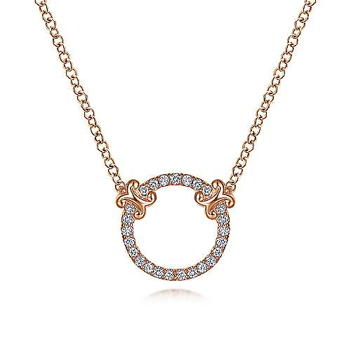 Gabriel - 14k Pink Gold Trends Fashion Necklace