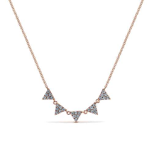 Gabriel - 14k Pink Gold Kaslique Fashion Necklace