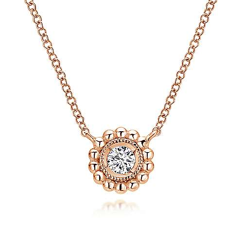 14k Pink Gold Bombay Fashion