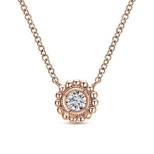 14k Pink Gold Bombay Fashion