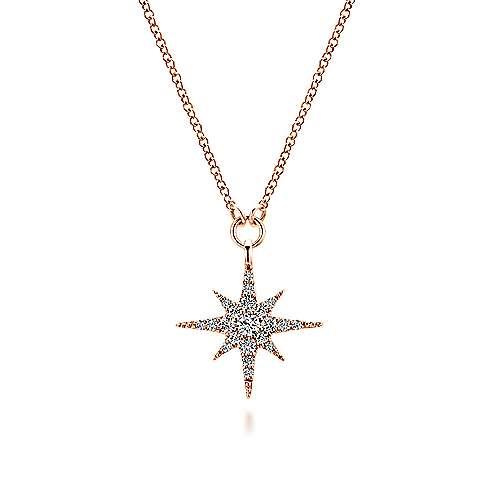 Gabriel - 14k Pink Gold Stellare Fashion Necklace