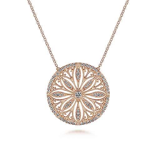 Gabriel - 14k Pink Gold Victorian Fashion Necklace
