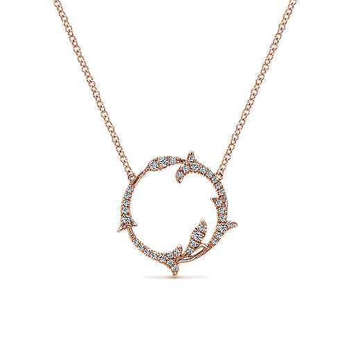 14k Pink Gold Lusso Diamond Fashion