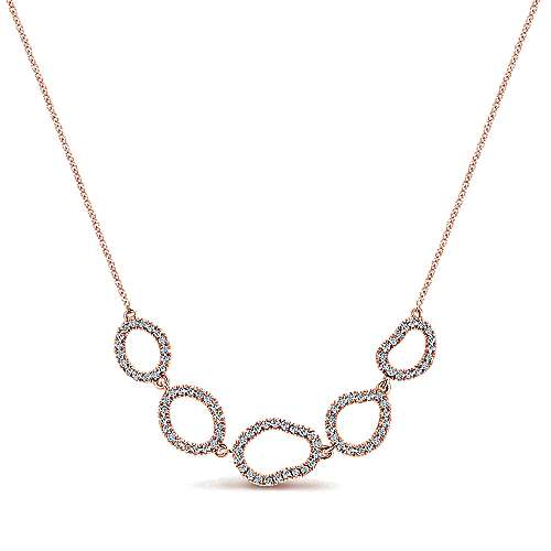 Gabriel - 14k Pink Gold Nature Fashion Necklace