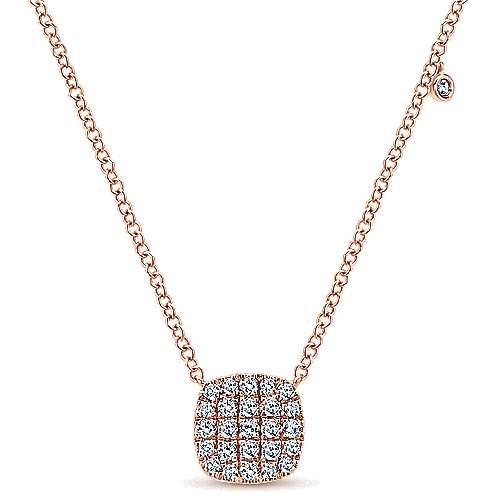 Gabriel - 14k Pink Gold Silk Fashion Necklace