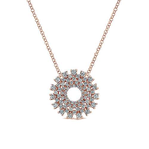 Gabriel - 14k Pink Gold Lusso Diamond Fashion Necklace