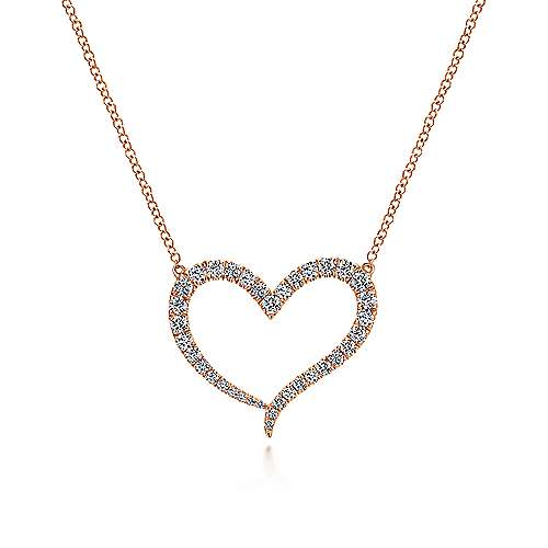 14k Pink Gold Eternal Love Heart
