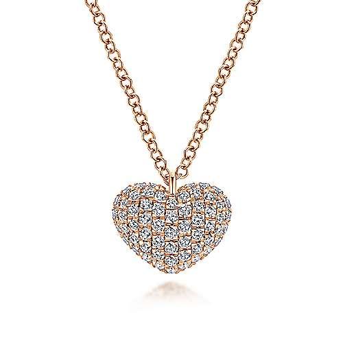 Gabriel - 14k Pink Gold Eternal Love Heart Necklace