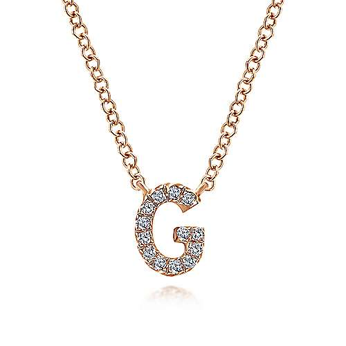 14k Pink Gold Initial
