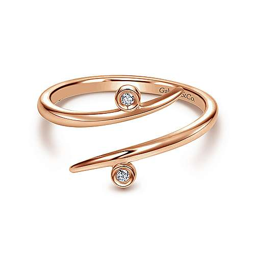 Gabriel - 14k Pink Gold Midi Ladies' Ring
