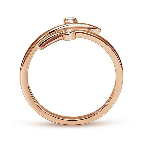 14k Pink Gold Diamond Midi Ladies