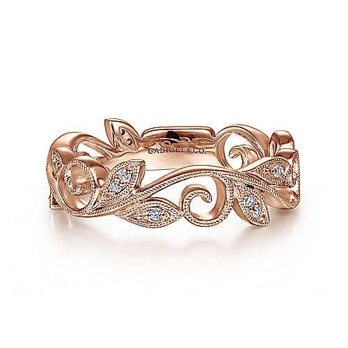 Gabriel - 14k Pink Gold Stackable Ladies' Ring