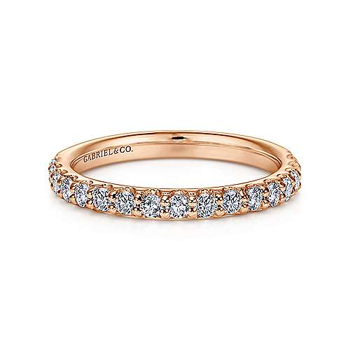 Gabriel - 14k Pink Gold Contemporary Straight Anniversary Band