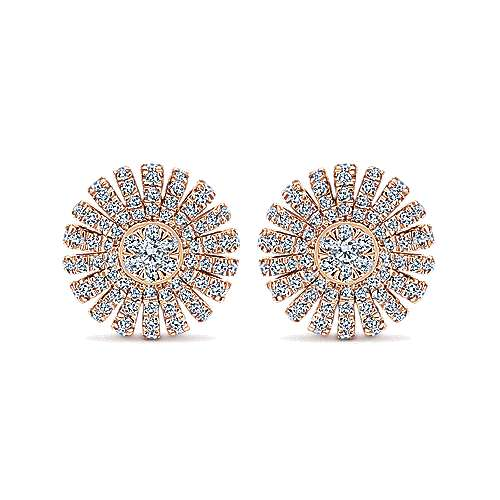 Gabriel - 14k Pink Gold Stellare Stud Earrings