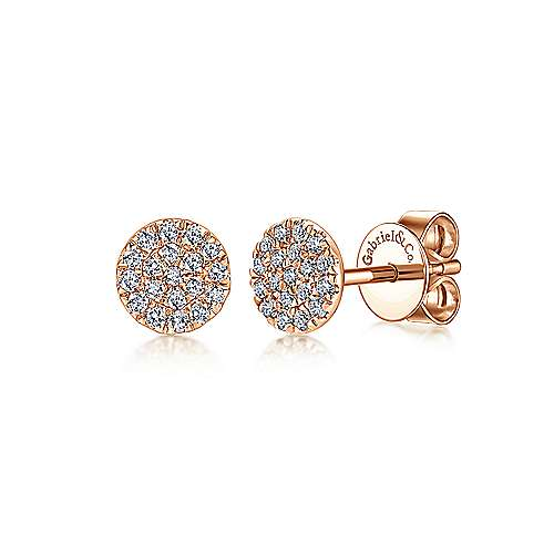 Gabriel - 14k Pink Gold Silk Stud Earrings