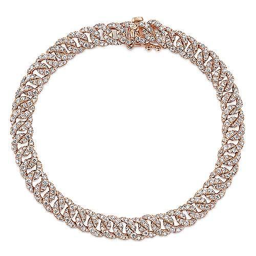Gabriel - 14k Pink Gold Lusso Diamond Tennis Bracelet