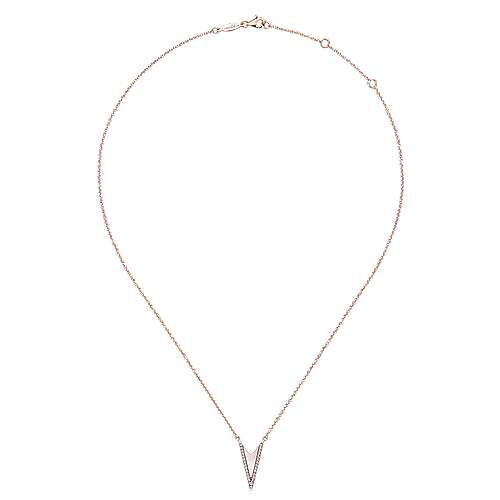 14k Pink Gold Diamond White Mother Pearl Fashion Necklace angle 2
