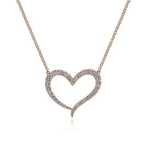 14k Pink Gold  Heart