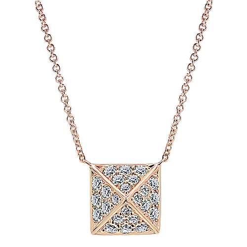Gabriel - 14k Pink Gold Fierce Fashion Necklace