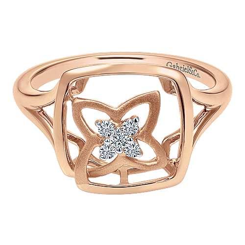 Gabriel - 14k Pink Gold Floral Fashion Ladies' Ring