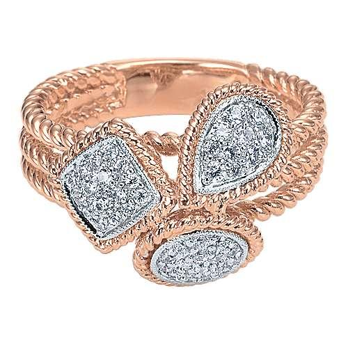 Gabriel - 14k Pink Gold Hampton Fashion Ladies' Ring