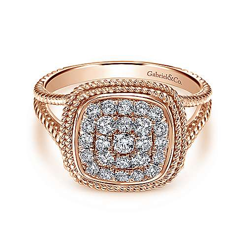 Gabriel - 14k Pink Gold Hampton Fashion Ladies' Ring