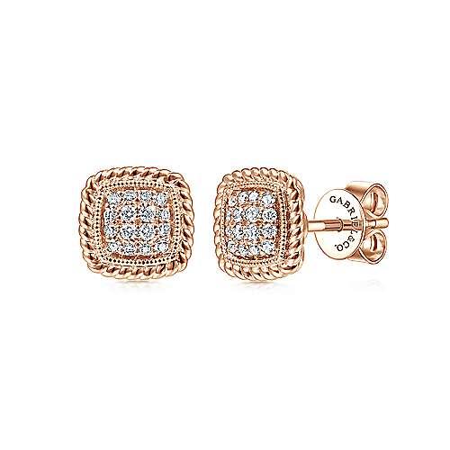 Gabriel - 14k Pink Gold Hampton Stud Earrings