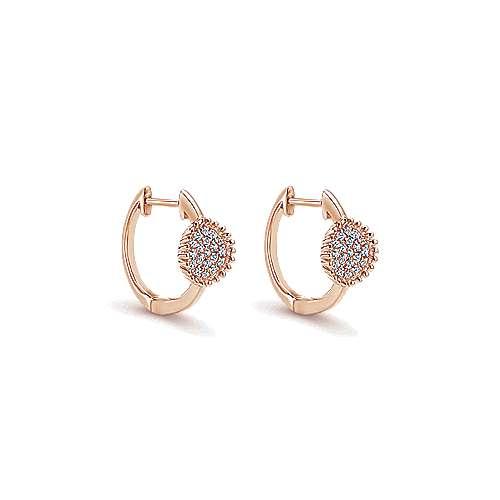 Gabriel - 14k Pink Gold Huggies Huggie Earrings