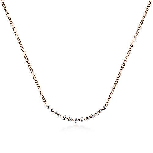 Gabriel - 14k Pink Gold Indulgence Bar Necklace