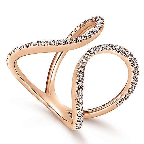 14k Pink Gold Kaslique Fashion Ladies