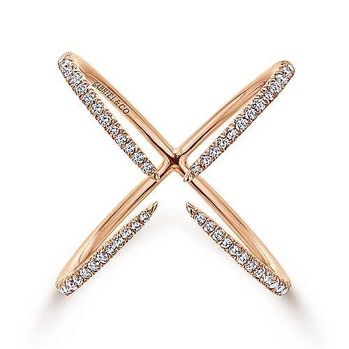Gabriel - 14k Pink Gold Kaslique Fashion Ladies' Ring