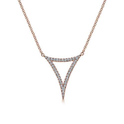 Gabriel - 14k Pink Gold Kaslique Fashion Necklace