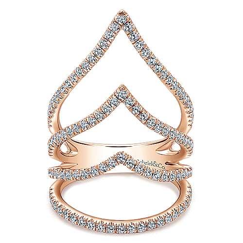 Gabriel - 14k Pink Gold Kaslique Wide Band Ladies' Ring