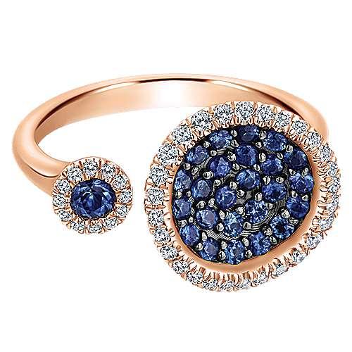 Gabriel - 14k Pink Gold Lusso Color Fashion Ladies' Ring