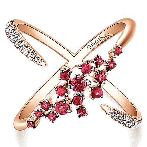 Gabriel - 14k Pink Gold Lusso Color Fashion Ladies' Ring