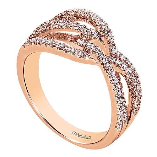 14k Pink Gold Lusso Diamond Fashion Ladies
