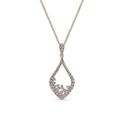 Gabriel - 14k Pink Gold Lusso Diamond Fashion Necklace