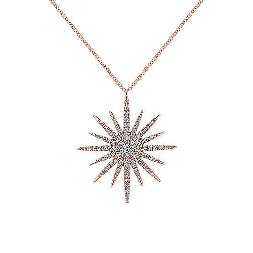 14k Pink Gold Lusso Diamond Fashion Necklace angle 1