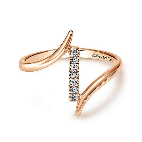 Gabriel - 14k Pink Gold Midi Ladies' Ring