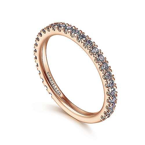 14k Pink Gold Nam-yang Jade Stackable Ladies