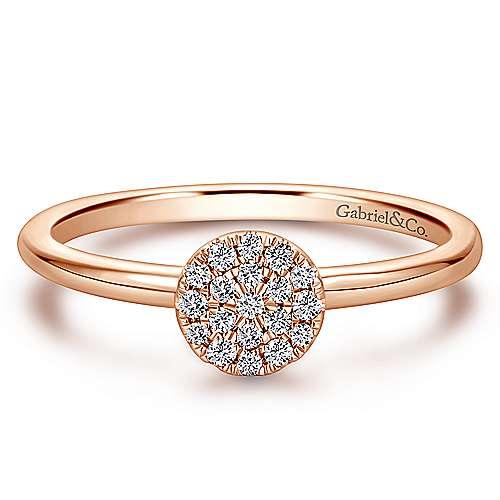 Gabriel - 14k Pink Gold Silk Fashion Ladies' Ring