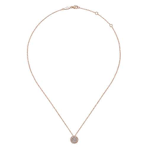 14k Pink Gold Silk Fashion Necklace angle 2