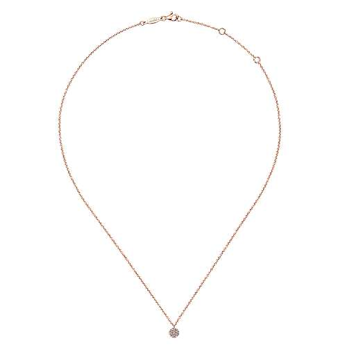 14k Pink Gold Silk Fashion Necklace angle 2