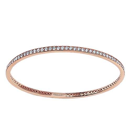 Gabriel - 14k Pink Gold Stackable Bangle
