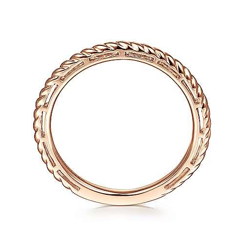 14k Pink Gold Stackable Ladies