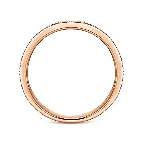 14k Pink Gold Stackable Ladies