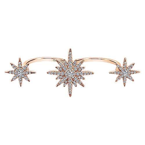 Gabriel - 14k Pink Gold Starlis Double Ring Ladies' Ring
